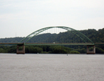 A bridge on the river in Dubuque